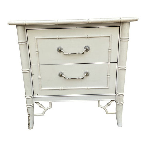 1970's Faux Bamboo Chinoiserie Nightstand by Thomasville