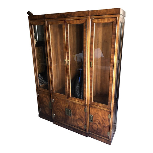 Transitional Campaign Style Display Cabinet