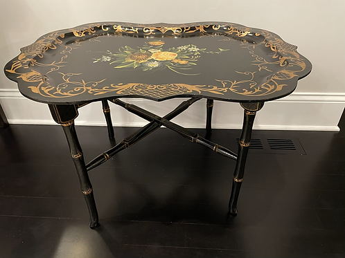 Vintage Chinoiserie Painted Coffee Table