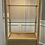 Thumbnail: Vintage Coastal Wicker Rattan Illuminated Etagere Display Cabinet