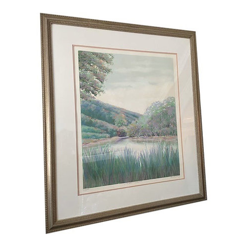 Late 20th Century Framed Original Painting Signed by Artist