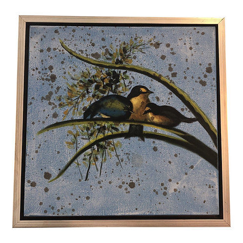 Songbird Framed Oil Painting on Canvas by Wildwood