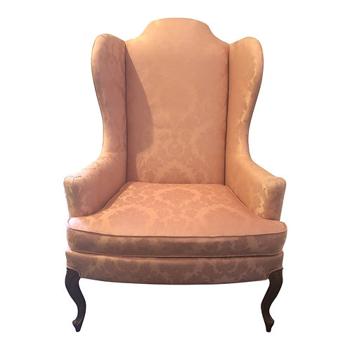 Traditional Upholstered Wingback Chair by Drexel Heritage