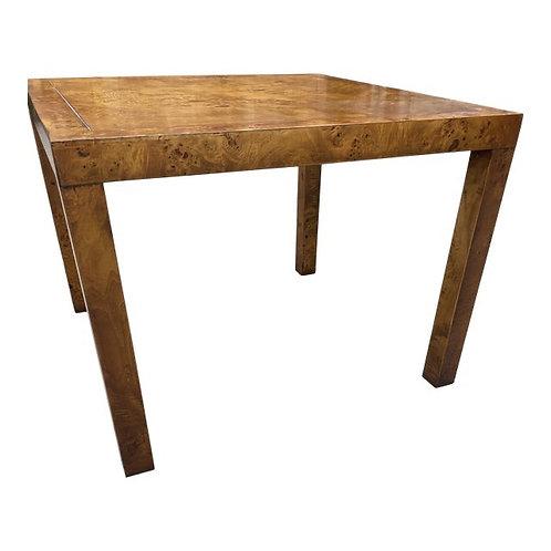 Vintage Burl Wood Accent Side Table