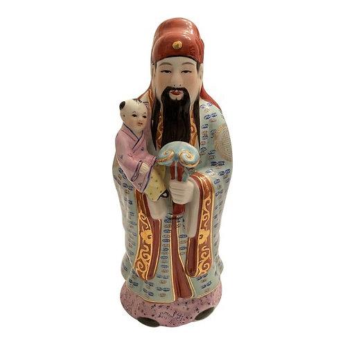 Late 20th Century Chinoiserie Asian Male Figurine