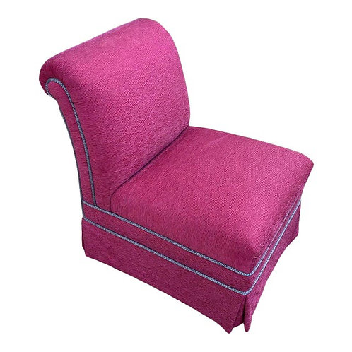 Early 21st Century Upholstered Pink Slipper Chair