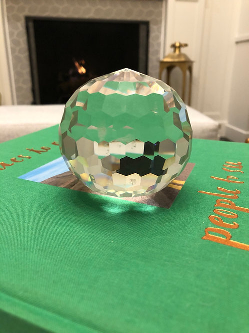 Transitional Style Cut Glass Decorative Ball