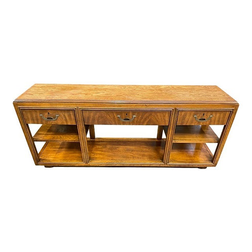"""1980's Campaign Style Console Table by Drexel """"Accolade"""""""