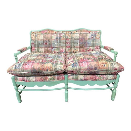 Mid 20th Century Upholstered Bench Settee