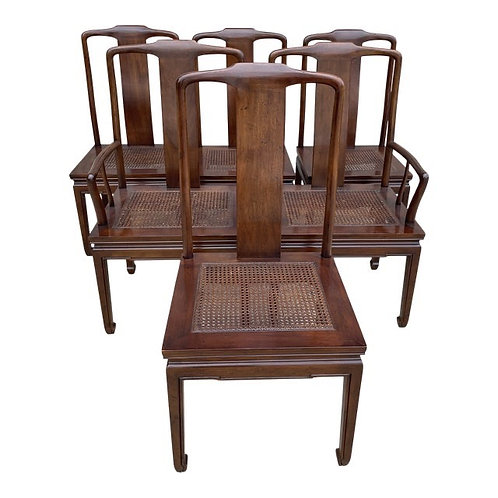 Henredon Chinoiserie Style Cane Dining Chairs
