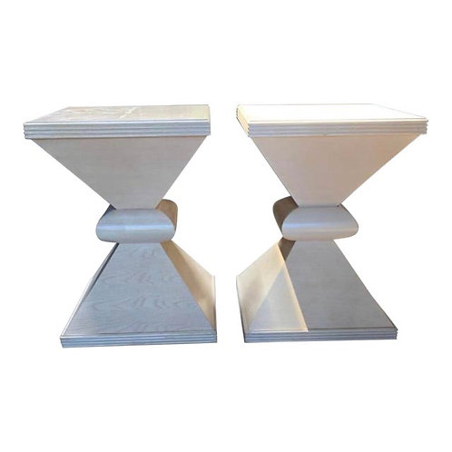 Century Furniture Pedestal Side Tables- a Pair
