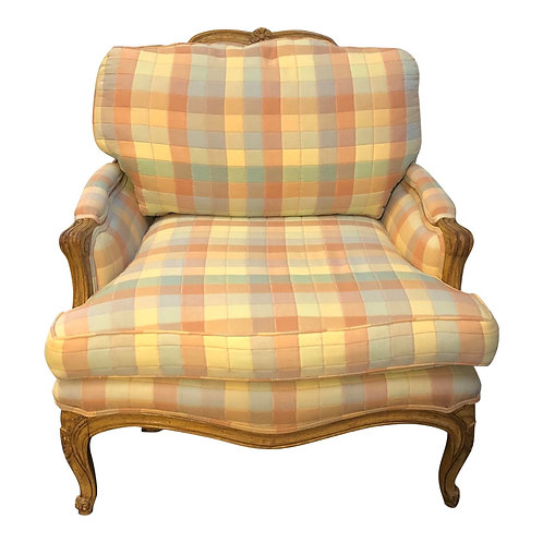Vintage Upholstered Bergere Style Chair