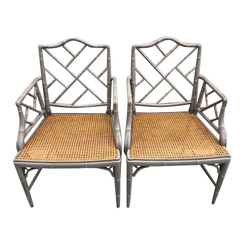 Chinese Chippendale Armchairs- A Pair