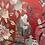 Thumbnail: Vintage Chinoiserie Silk Wall Art & Light