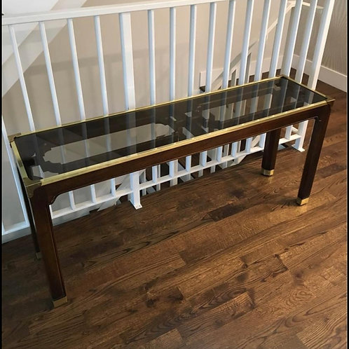 Vintage Fretwork Chinoiserie Style Console Table