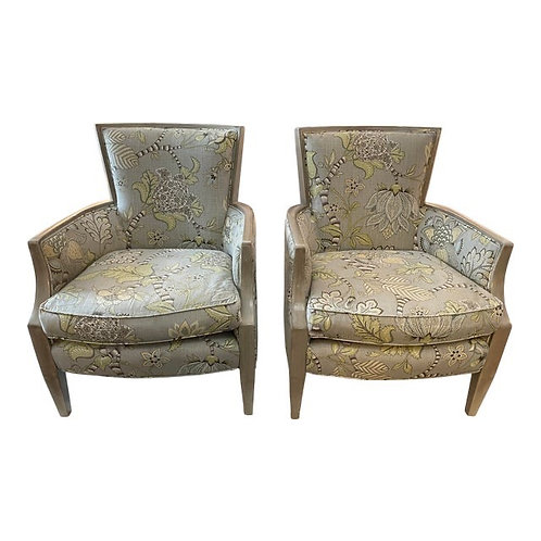 Modern Accent Chairs by Arhaus- a Pair