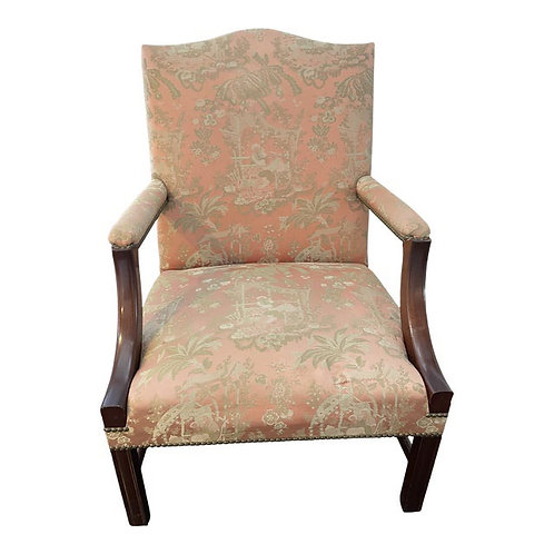 Late 20th Century Chinoiserie Upholstered Accent Chair
