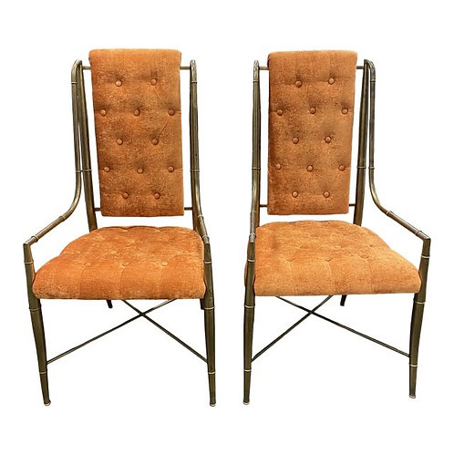 The Imperial Faux Bamboo Chair Set by Mastercraft, 1970s- a Pair