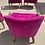 Thumbnail: Mid 20th Century Hot Pink Accent Chairs- a Pair