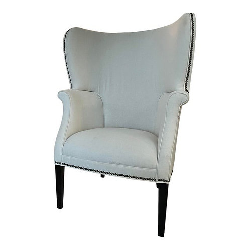 Modern Wingback Chairs by Darryl Carter Thomasville- A Pair