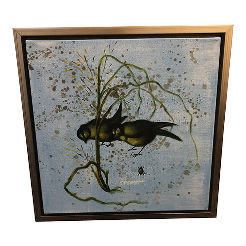 Chinoiserie Songbird II Oil Canvas by Wildwood