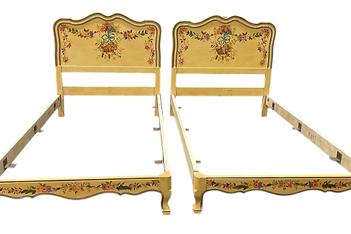 Antique Twin Bed Frames by John Widdicomb- a Pair