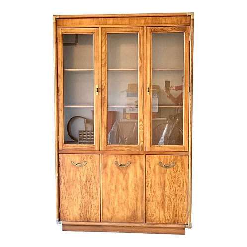 Mid 20th Century Campaign Style Display Cabinet