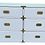 Thumbnail: Vintage White High Gloss Campaign Dresser