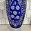 Thumbnail: Mid 20th Century Vintage Cobalt Blue Large Crystal Vase