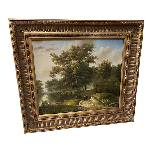 Mid 20th Century Landscape Oil Painting