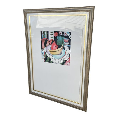"""Late 20th Century """"Cappucino"""" Abstract Wall Art"""