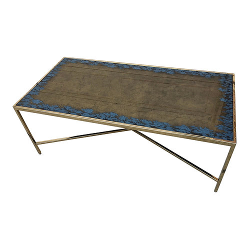 Hollywood Regency Interlude Home Mirrored Coffee Table