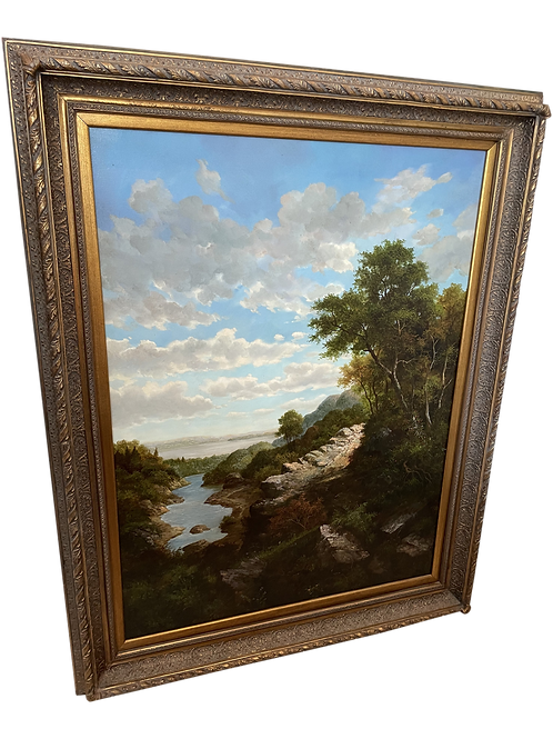 Late 20th Century Oversize Framed Landscape Painting