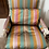 Thumbnail: French Style Silk Accent Chairs by Ej Victor- a Pair