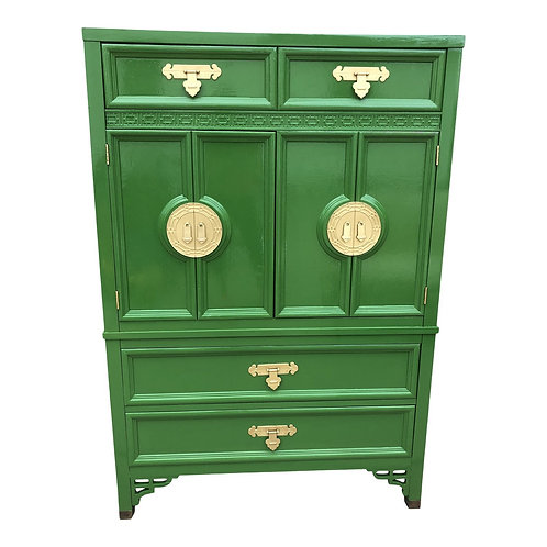 Vintage Chinoiserie Style Dresser by Dixie Furniture