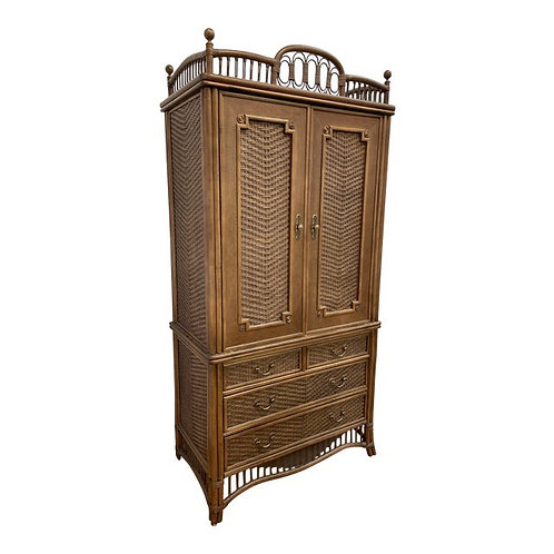 """1980's Ficks Reed """"Country Court"""" Armoire"""