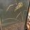 Thumbnail: Faux Alligator Ebony Chinoiserie 3-Panel Screen