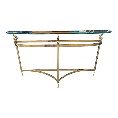Late 20th Century Labarge *Rare Koi Brass Console Table