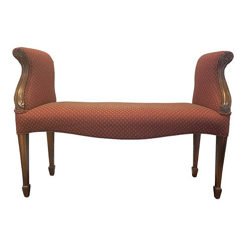 Late 20th Century Upholstered Bench