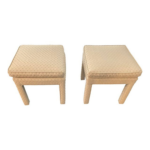 Late 20th Century Vintage Parsons Stools- a Pair