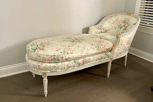 Louis XV Style Antique Reproduction Chaise Lounge