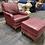 Thumbnail: Vintage Leather Chair & Ottoman Set by Leathercraft Inc