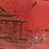 Thumbnail: Vintage Red Lacquer Chinoiserie Dry Bar Cabinet
