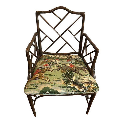 Chinese Chippendale Vintage Armchair