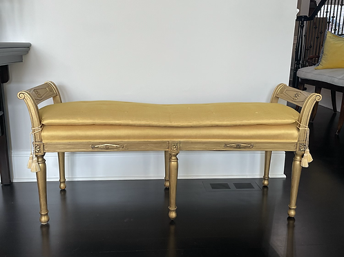 Mid 20th Century Marshall Field Upholstered Bench