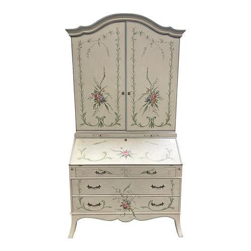 Late 20th Century Julia Gray, Ltd. French Style Secretary Bookcase