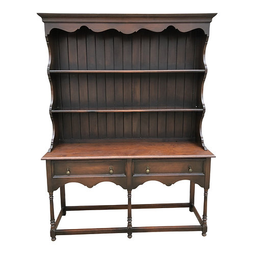 Mid 20th Century Vintage Two-Piece Display Hutch