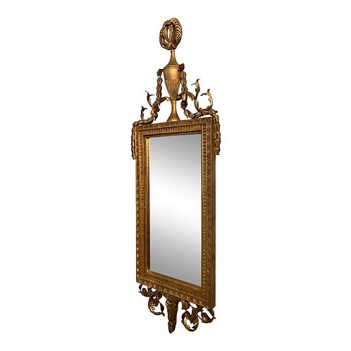 Vintage Federal Style Beveled Wall Mirror