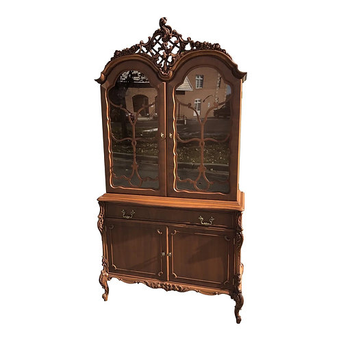 Antique Reproduction French Louis XV Style Display Cabinet