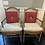Thumbnail: Vintage Country French Rush Seat Armchairs by Trouvailles- a Pair